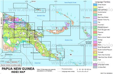 papua new guinea map papua new guinea index map ethnologue