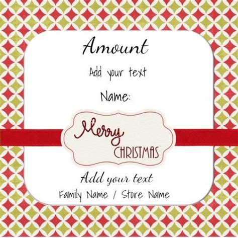 printable personalized gift cards 17 best images about christmas gift certificates on