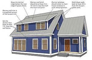 Cape Cod House Design making shed dormers work fine homebuilding