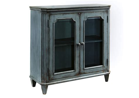 two door accent cabinet ivan smith mirimyn antique teal 2 door accent cabinet
