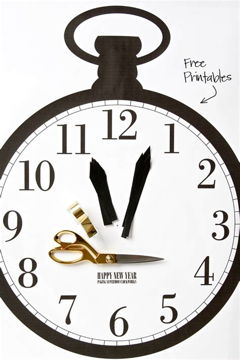 printable new years clock free printable new years clock game paging supermom