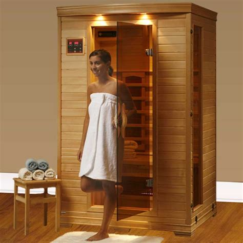 home sauna heat coronado ultra 2 person ceramic infrared home