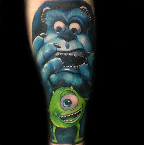 monsters inc tattoo 13 pixar inspired ideas bored panda