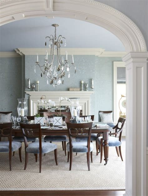 Light Blue Dining Room by A Classic Ct Home With A Modern Flair Traditional