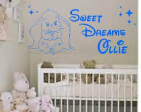 Disney Wall Art Stickers disney sweet dreams mickey personalised vinyl wall art quote sticker