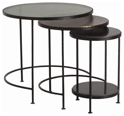 shop houzz arteriors home yardley nesting tables set of