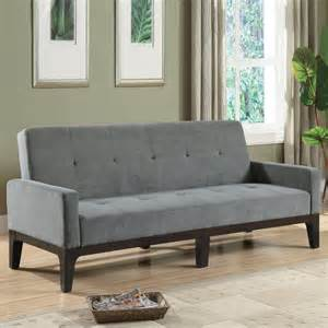 shop coaster furniture cappuccino grey futon at lowes
