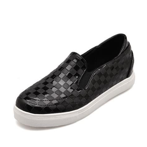 new fashion plaid toe slip on flat shoes