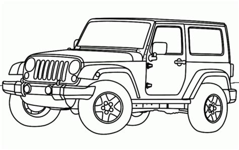 Jeep Coloring Page Jeep Wrangler Coloring Pages Car Interior Design