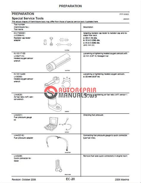 Nissan Maxima 2006 2009 Approved Auto Repair Manual