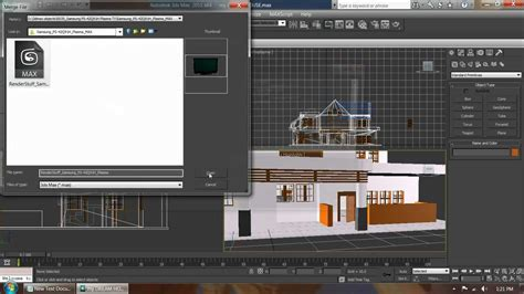 3ds max templates how to merge a 3ds max file into a 3ds max project