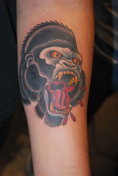 gorilla tattoo traditional gorilla flash search