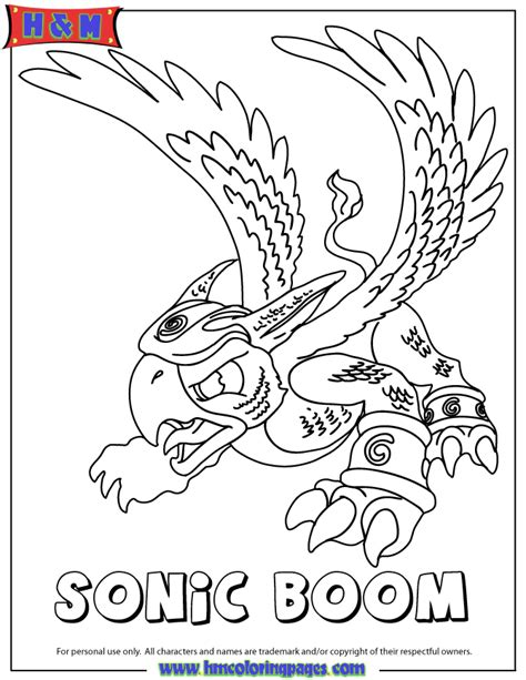 free coloring pages of skylanders sonic boom