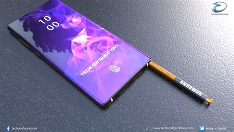 samsung galaxy note 10 gets an introduction curvier concept
