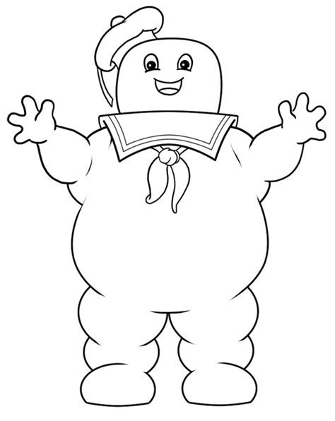 Ghostbusters Stay Puft Marshmallow Man Coloring Pages Ghostbuster Birthday Pinterest Stay Template