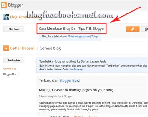 membuat artikel tik materi tik cara membuat blog