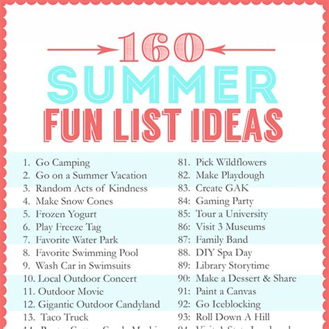 160 summer list ideas the crafting