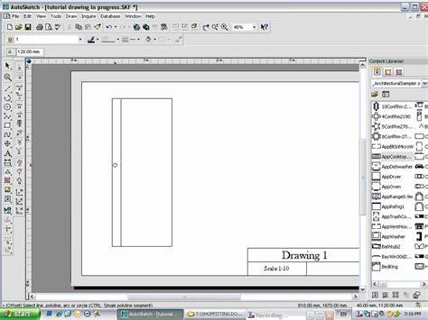 Auto Sketch by Autosketch Start Tutorial Part 7 Wmv
