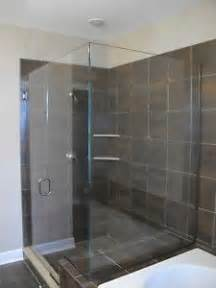 3 panel glass shower door frameless 3 8 quot glass shower door panel and return ebay