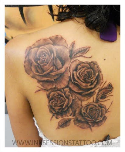 black n grey rose tattoos ink sessions black n gray roses