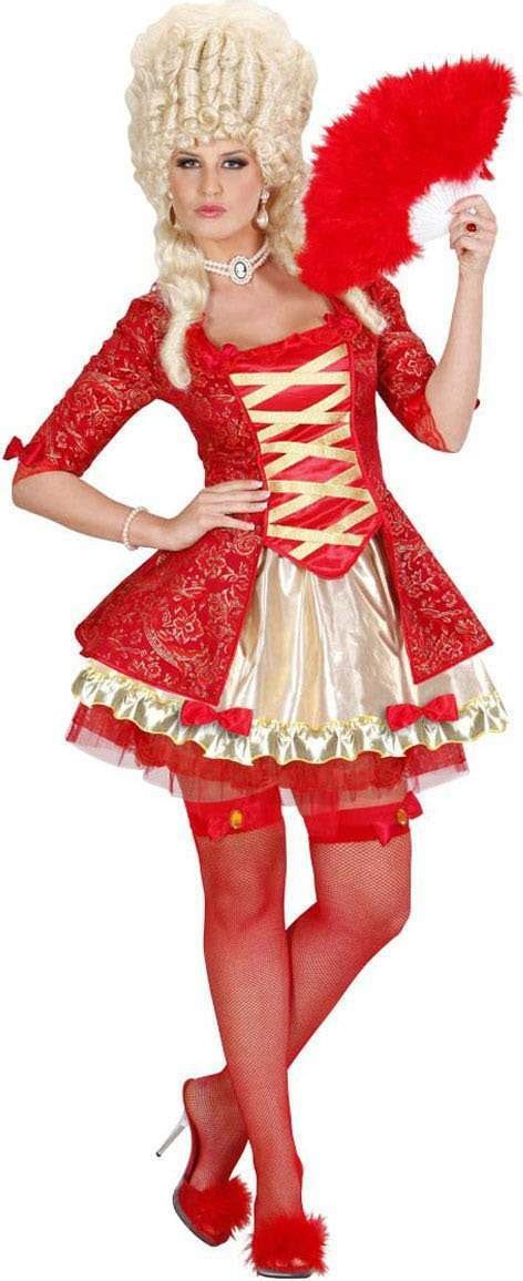 buy ladies red baroque queen royal outfit red largest  fancy dress range   uk