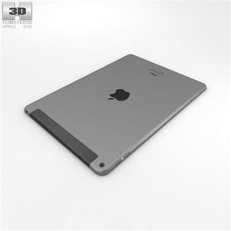 Air 2 Cellular apple air 2 cellular space grey 3d model humster3d