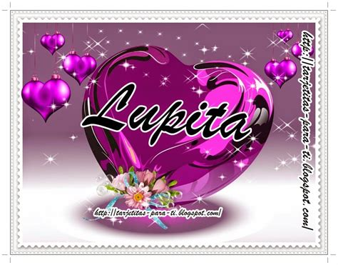 imagenes animadas nombre lupita tarjetitas para ti coraz 243 n de cristal morado nombre mujer