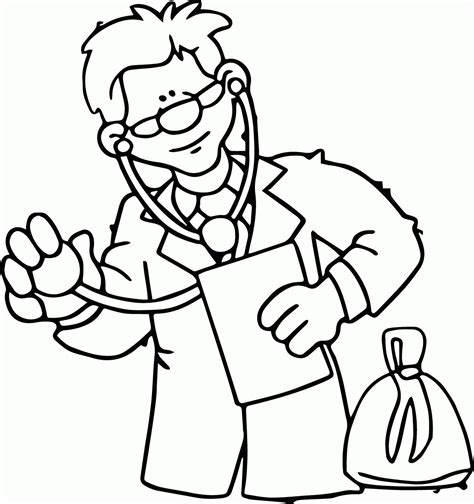 Coloring Pages Eye Doctor | eye doctor coloring page coloring home