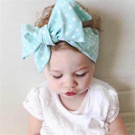 new 2016 diy baby kid turban knot headband big bow adjustable solid rabbit wrap hair