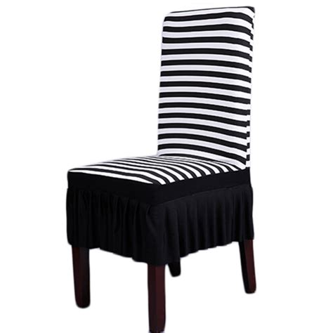 Zebra Dining Chair Covers New Spandex Stretch Dining Chair Cover Restaurant Hotel Wedding Banquet Zebra Stripped Seat