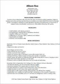 Laundry Attendant Sle Resume by Professional Room Attendant Templates To Showcase Your Talent Myperfectresume