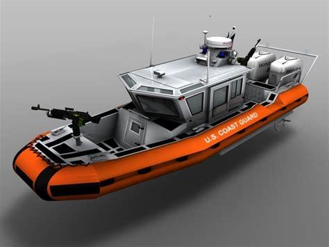 rb boats 3d coast guard rb hs boat model