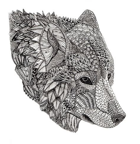 tribal wolf coloring page wolf livingston wolf and adult coloring