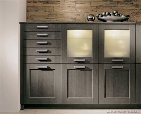 Ordinary Modern Gray Kitchen Cabinets #4: Kitchen-cabinets-modern-gray-006-A144b-painted-wood-glass-door-drawers.jpg