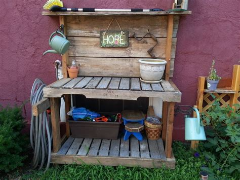potting bench ideas potting bench onecar wood
