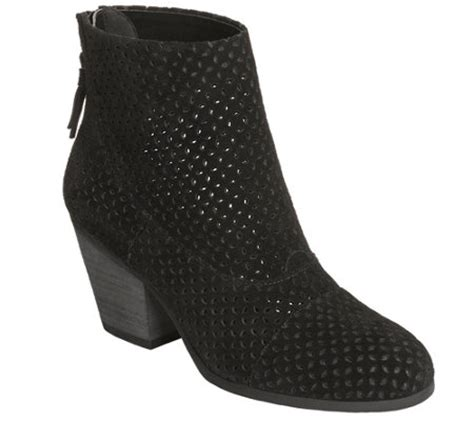 aerosoles suede perforated ankle boots vitalsign qvc