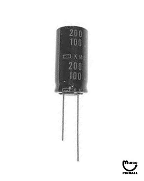 100uf variable capacitor capacitor 100 uf 200v radial c100m200vr marco pinball parts