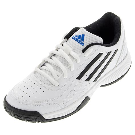 adidas juniors sonic attack k tennis shoes white and black