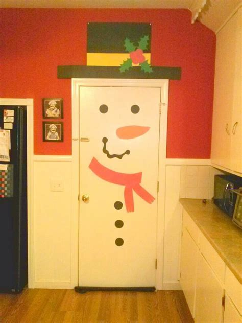 Snowman Door by Diy Door Snowman Trusper