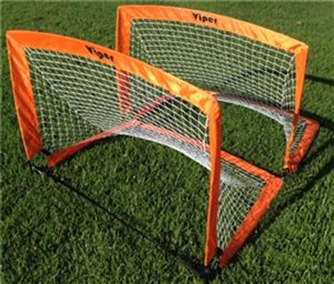 soccer goals for backyard sarson viper pop up backyard soccer goals pair soccer equipment and gear