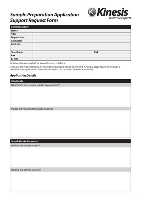 it support services template application support request form