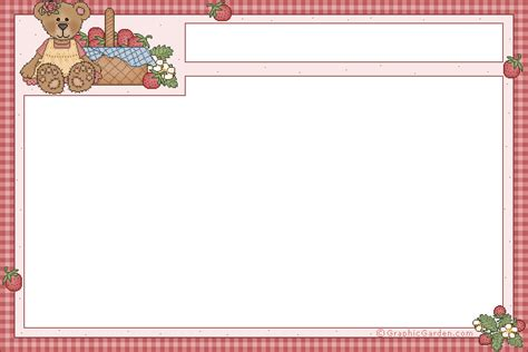 Typeable Recipe Card Template by Uh Oh Examiner