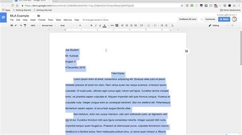 Mla Format Google Docs Youtube 7 Does Docs
