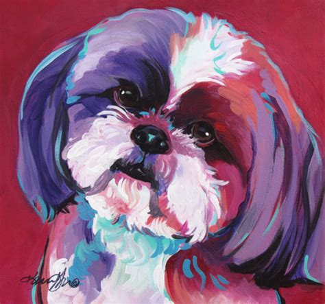 shih tzu painting shih tzu pop pet portraits acrylic by karrengarces