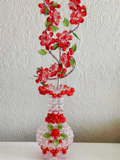 beads decoration home vases bead vase with flower bead decor your home a