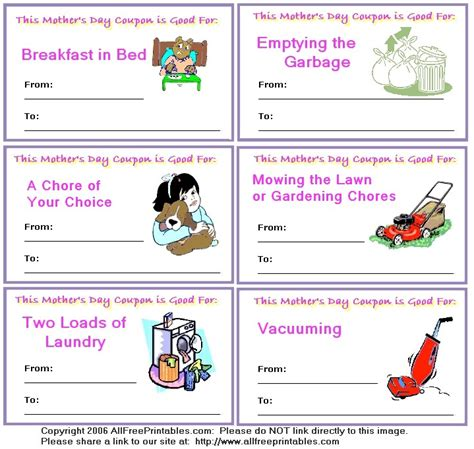 printable mother s day coupon book template coupons for kids referlocal com