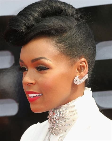 universal hairstyles black hair up do s janelle monae french roll naturalhair celebrity hair