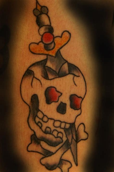 skull and dagger tattoo dagger and skull design