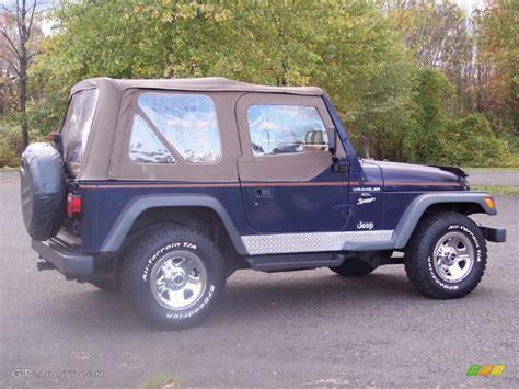 dark blue jeep 1997 dark blue pearl jeep wrangler sport 4x4 55488037