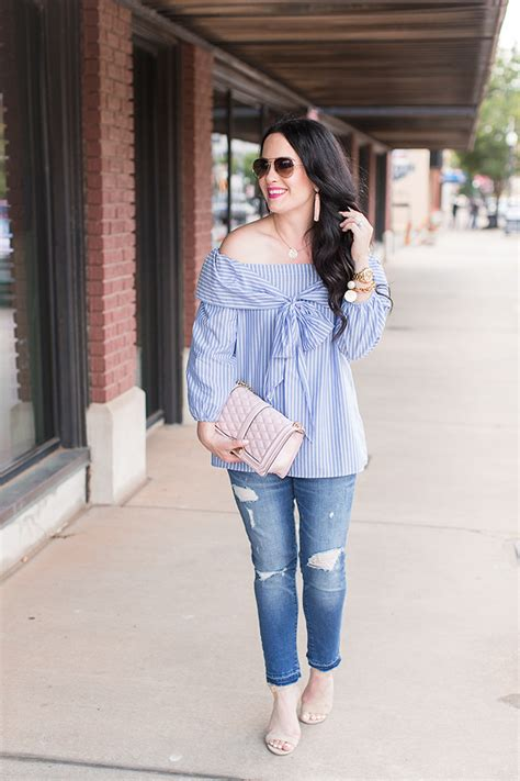 Rahisa Blouse blue bow ruffle blouses weekend style the